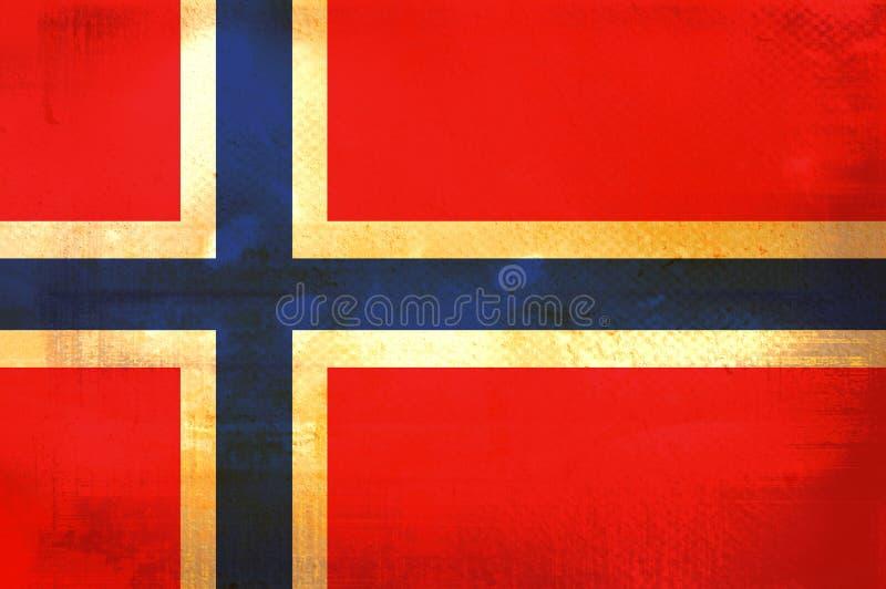 flagga norway stock illustrationer