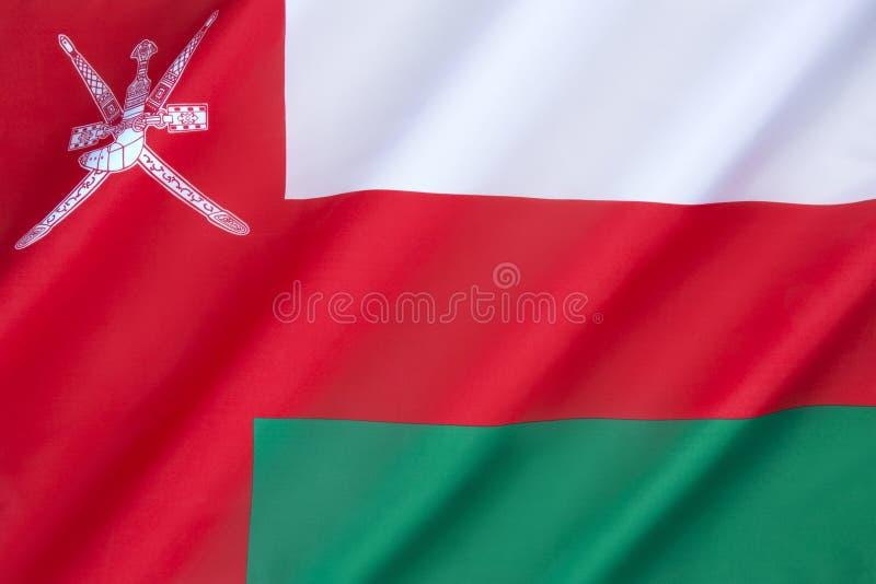 flagga oman arkivfoto