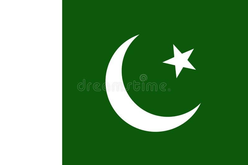 flagga pakistan stock illustrationer