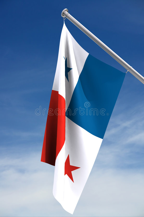 flagga panama royaltyfria bilder