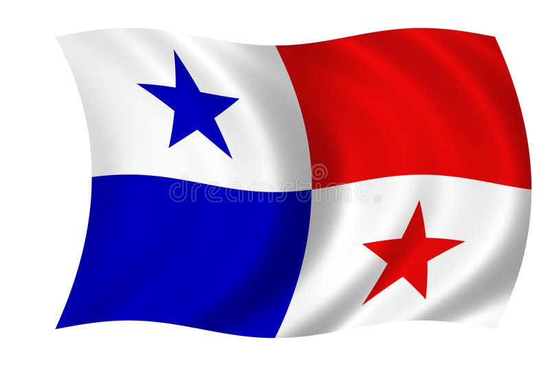 flagga panama royaltyfri illustrationer