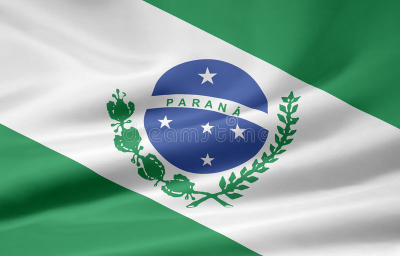 flagga parana stock illustrationer