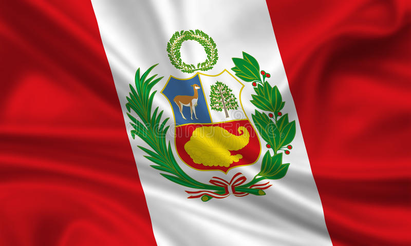flagga peru royaltyfri illustrationer