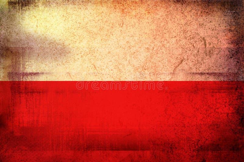 flagga poland royaltyfri illustrationer