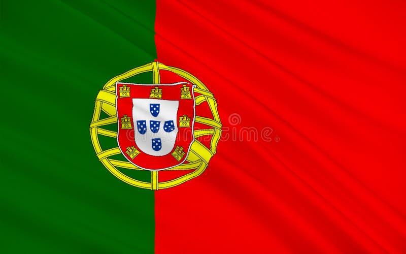 flagga portugal stock illustrationer