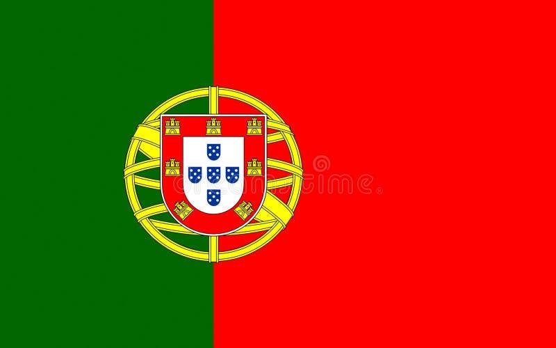 flagga portugal royaltyfri illustrationer