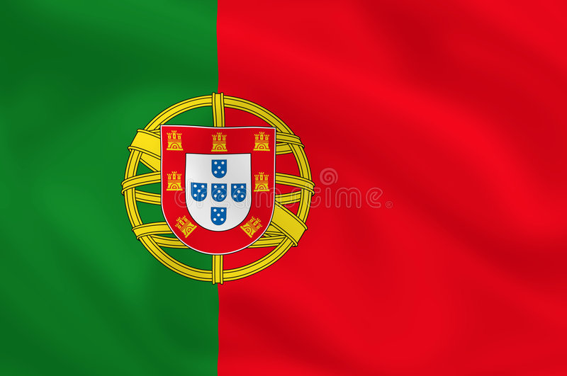 flagga portugal stock illustrationer