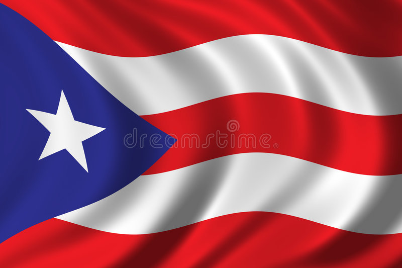 flagga Puerto Rico vektor illustrationer