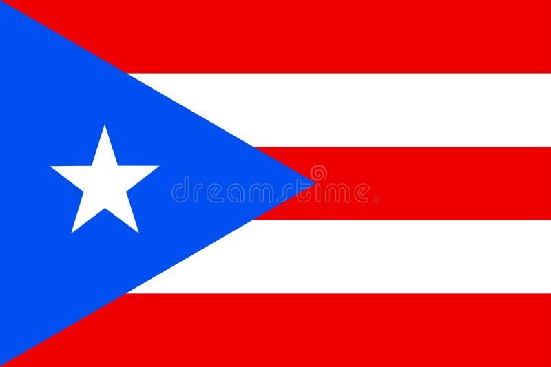 flagga Puerto Rico royaltyfri illustrationer