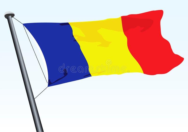 flagga romania vektor illustrationer