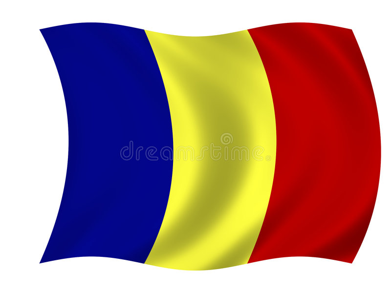 flagga romania royaltyfri illustrationer