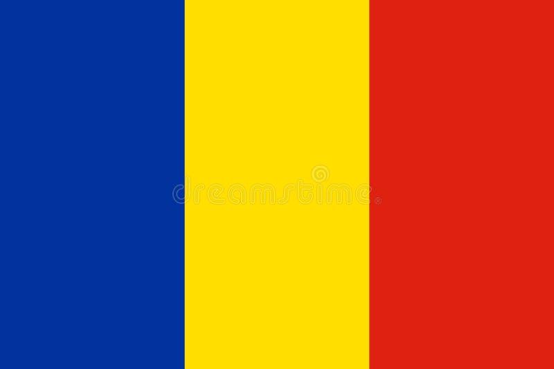 flagga romania royaltyfri illustrationer