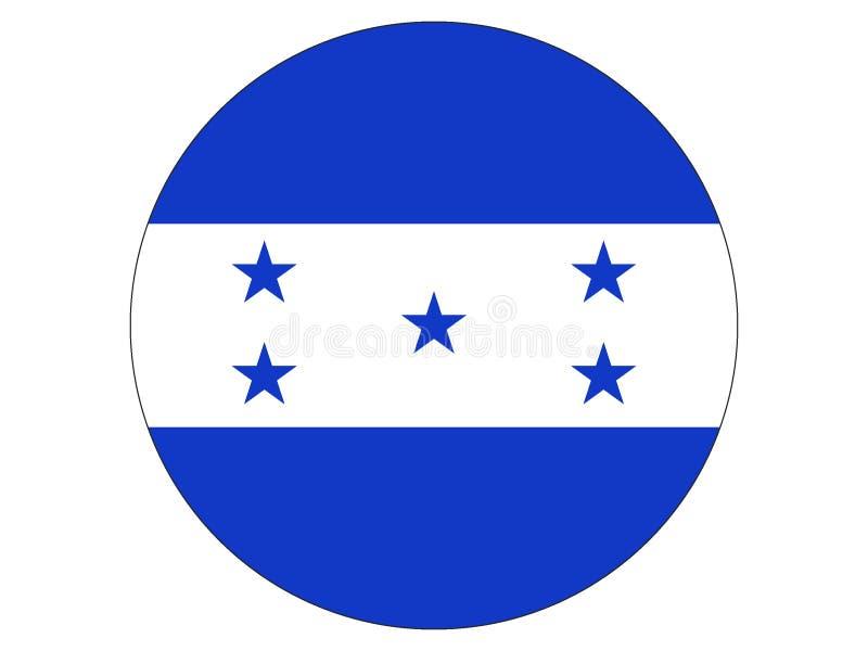 flagga runda honduras vektor illustrationer