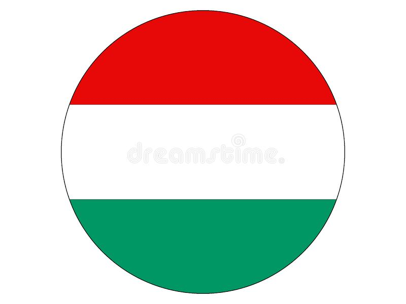 flagga runda hungary stock illustrationer