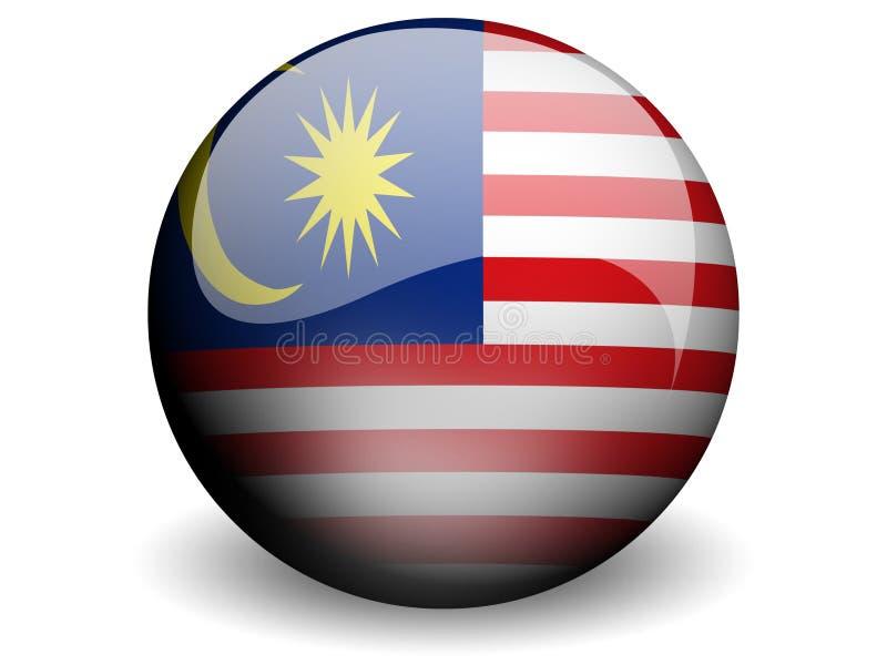 flagga runda malaysia vektor illustrationer
