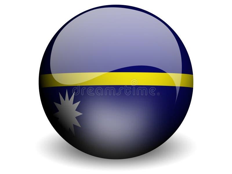 flagga runda nauru royaltyfri illustrationer