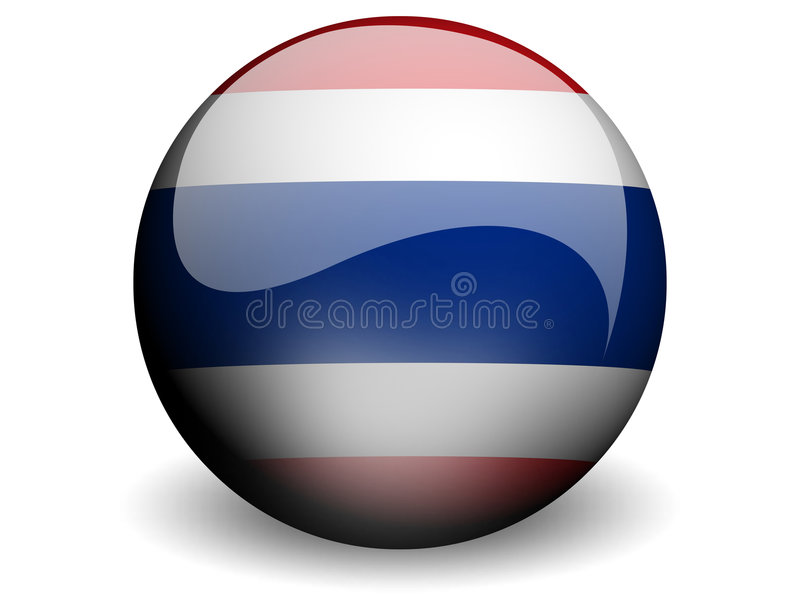 flagga runda thailand stock illustrationer