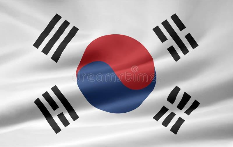 flagga södra korea stock illustrationer