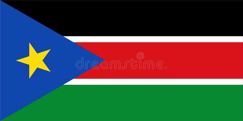 flagga södra sudan royaltyfri illustrationer