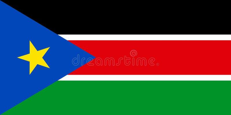 flagga södra sudan stock illustrationer