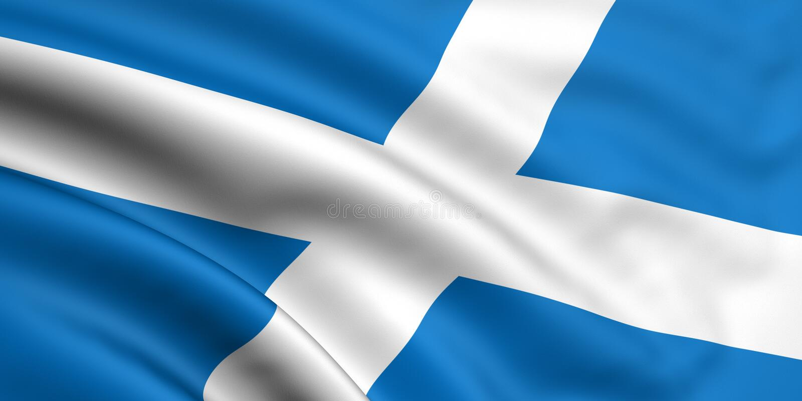 flagga scotland vektor illustrationer
