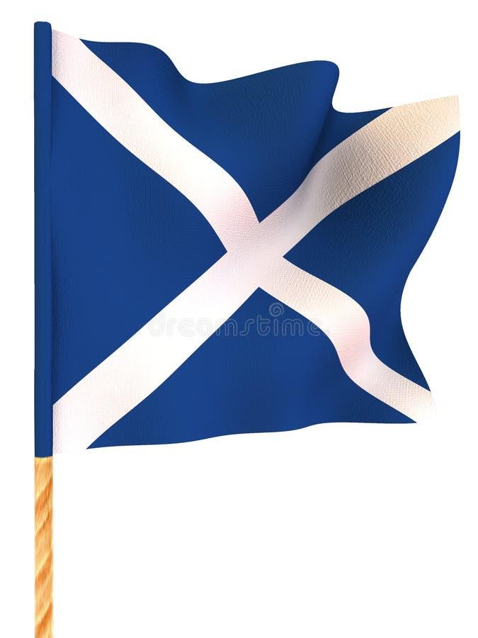 flagga scotland royaltyfri illustrationer