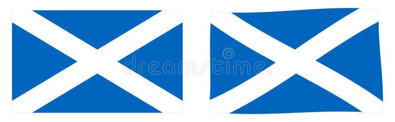 flagga scotland Enkel och vinkande litet version royaltyfri illustrationer