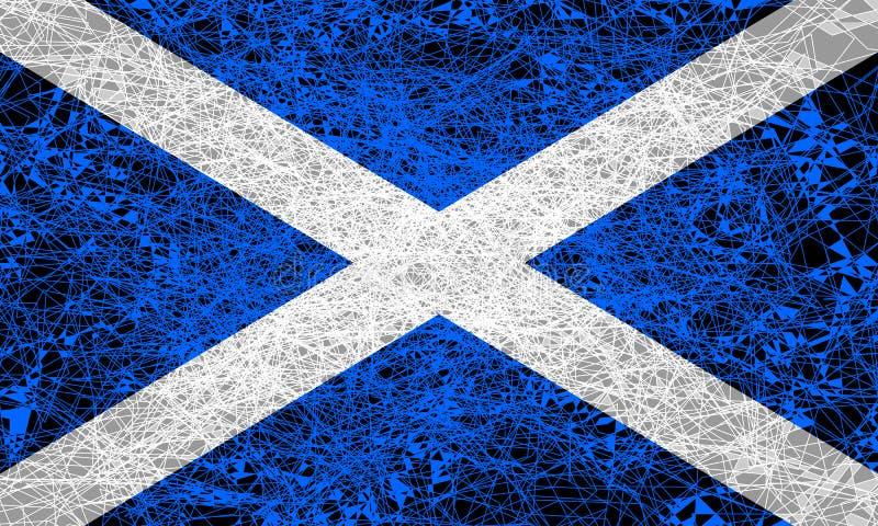 flagga scotland vektor illustrationer