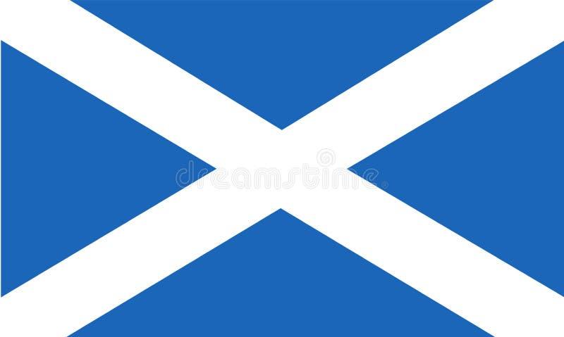 flagga scotland Kors för St Andrew ` s royaltyfri illustrationer