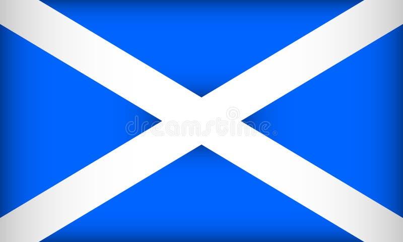 flagga scotland stock illustrationer
