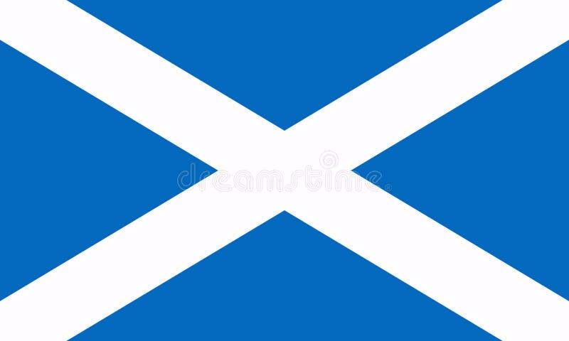 flagga scotland ocks? vektor f?r coreldrawillustration V?rldsflagga stock illustrationer