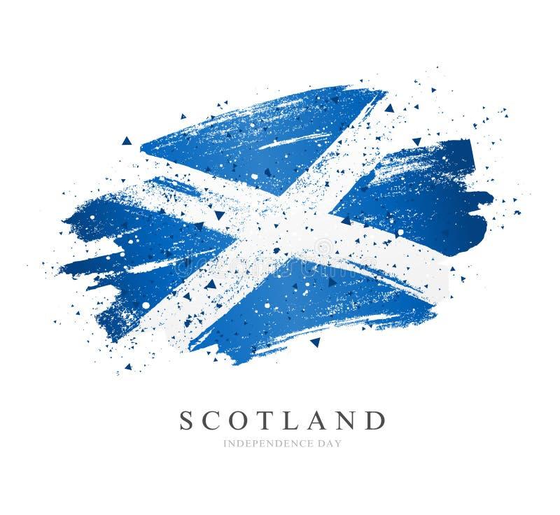 flagga scotland white f?r vektor f?r bakgrundsillustrationhaj vektor illustrationer