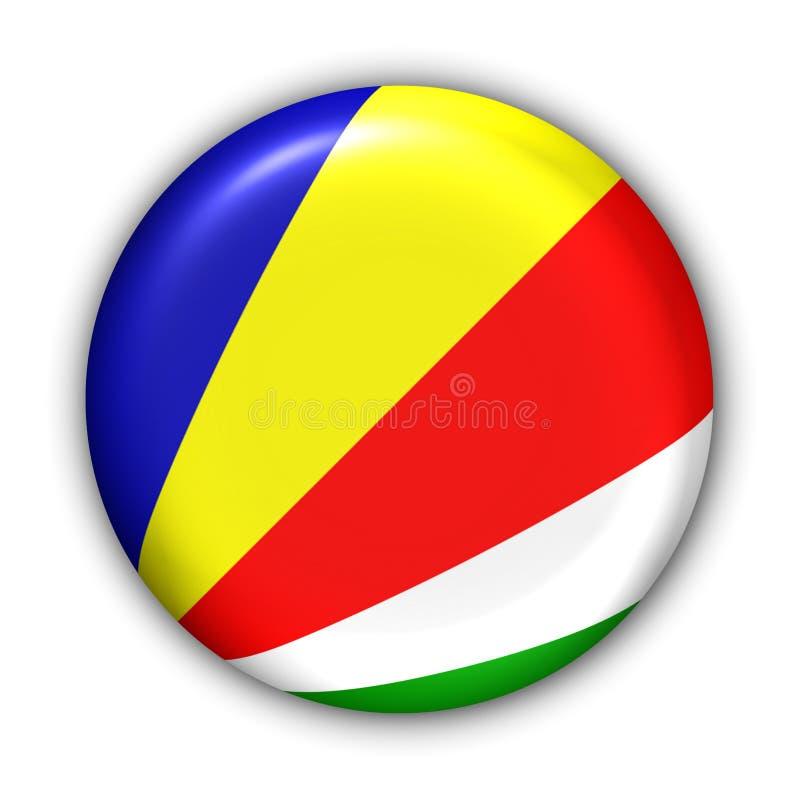 flagga seychelles stock illustrationer