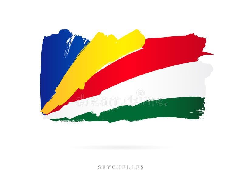 flagga seychelles Abstrakt begrepp stock illustrationer