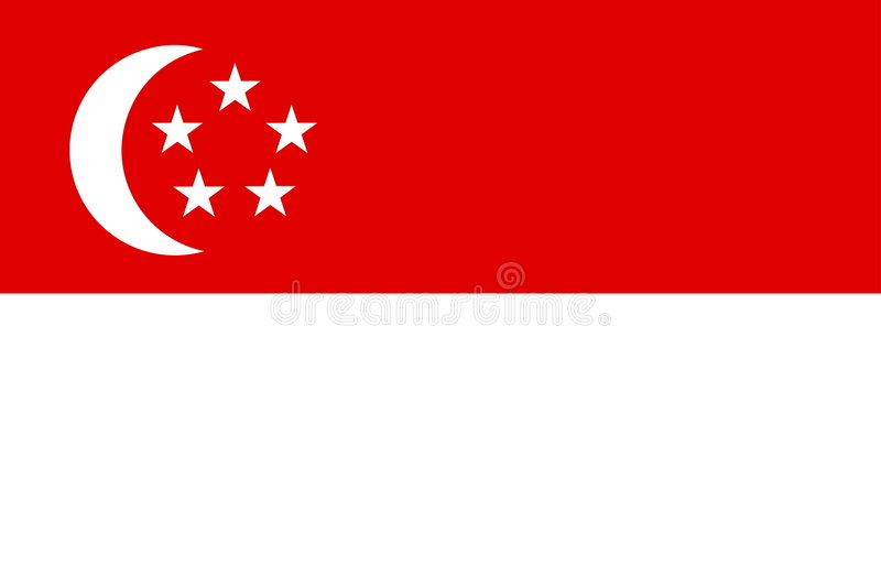 flagga singapore royaltyfri illustrationer
