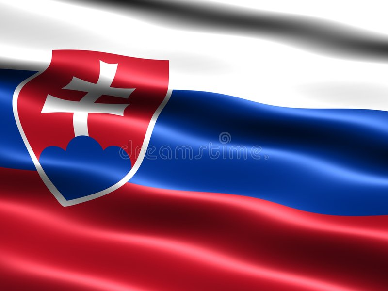 flagga slovakia vektor illustrationer