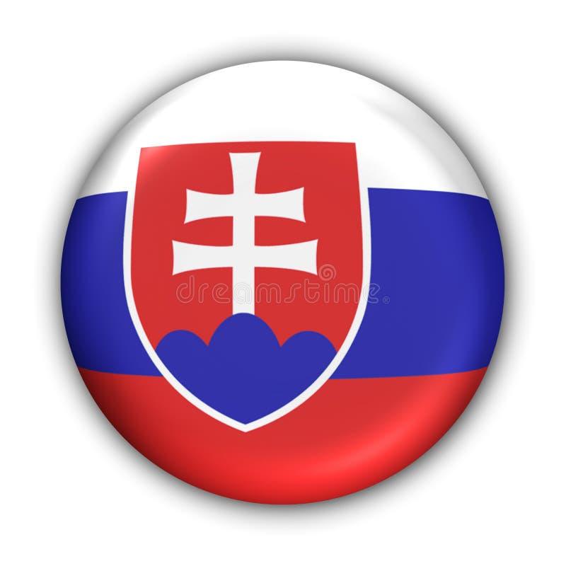 flagga slovakia royaltyfri illustrationer