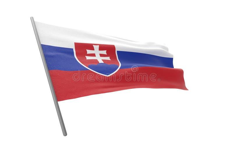 flagga slovakia fotografering för bildbyråer