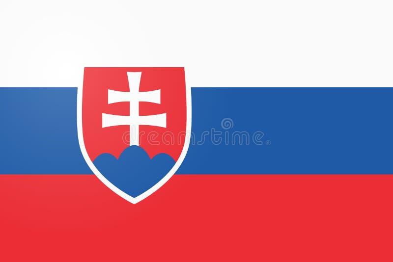 flagga slovakia sidasymbol för din logo för webbplatsdesignSlovakien flagga, app, UI Illustration för Slovakien flaggavektor, royaltyfri illustrationer