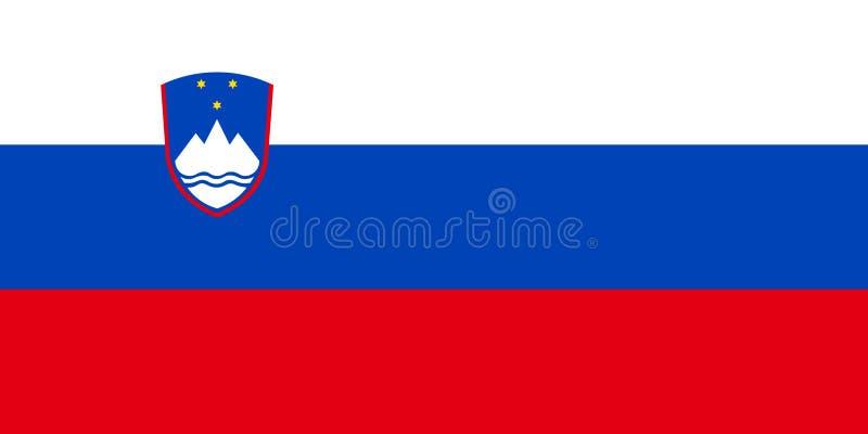 flagga slovenia vektor illustrationer