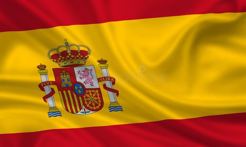 flagga spain royaltyfria bilder