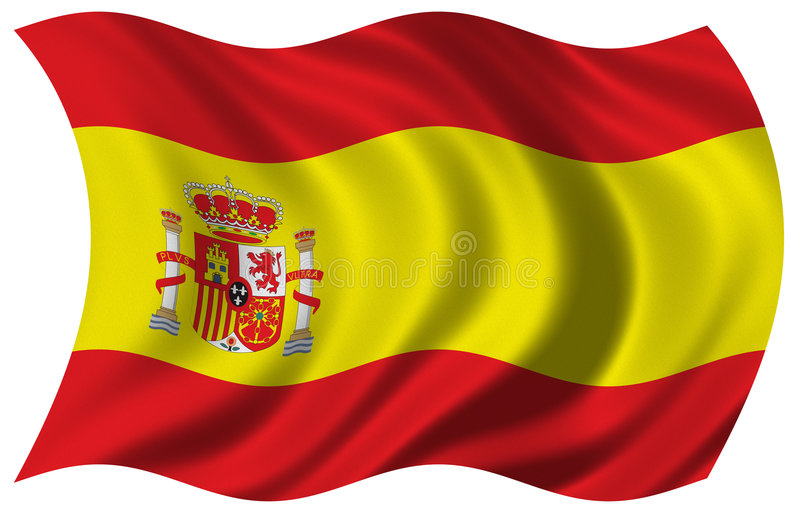 flagga spain stock illustrationer
