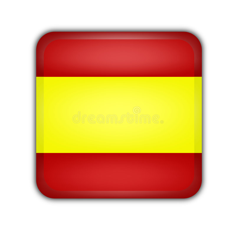 flagga spain vektor illustrationer
