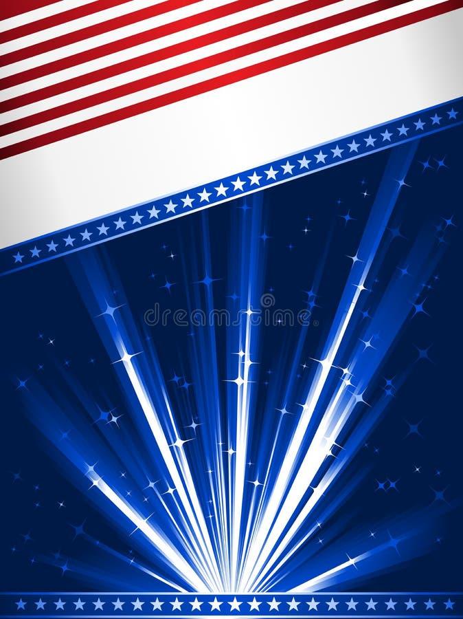 flagga stylised USA royaltyfri illustrationer