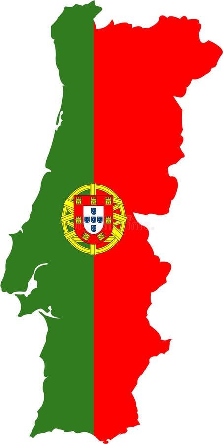 flagga stylized portugal stock illustrationer