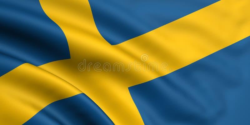 flagga sweden royaltyfri illustrationer