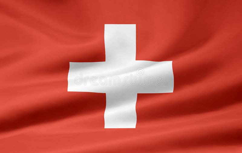 flagga switzerland royaltyfri illustrationer