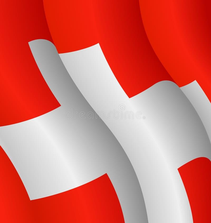 flagga switzerland stock illustrationer