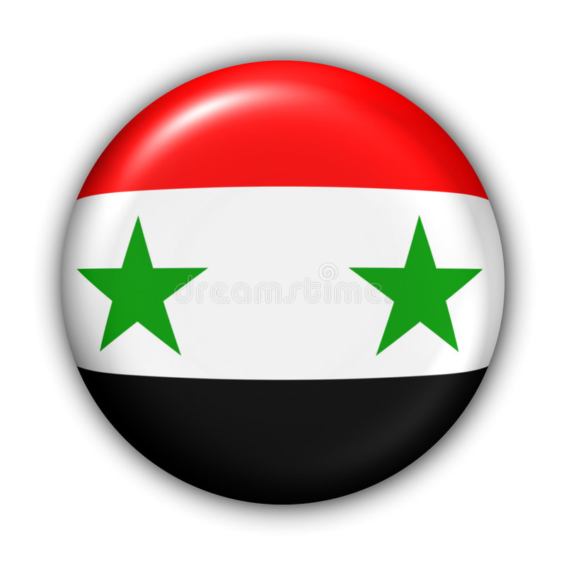 flagga syria royaltyfri illustrationer