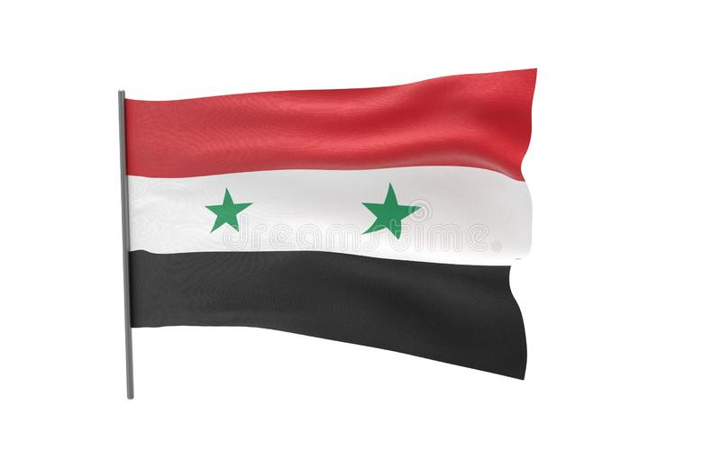 flagga syria stock illustrationer
